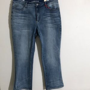 Lands End Midrise Kick Crop Jeans 12 Tall  NWT